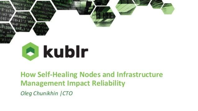 How Self-Healing Nodes and Infrastructure Management Impact Reliability Oleg Chunikhin |CTO
