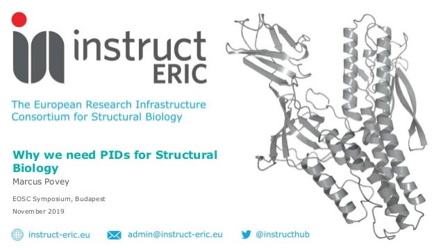 Why we need PIDs for Structural Biology Marcus Povey EOSC Symposium, Budapest November 2019