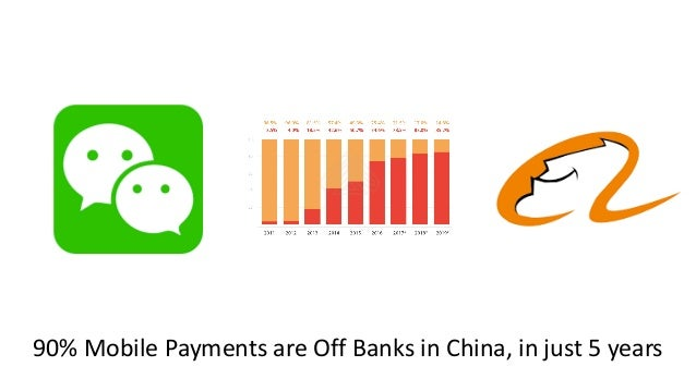 90% Mobile Payments are Off Banks in China, in just 5 years