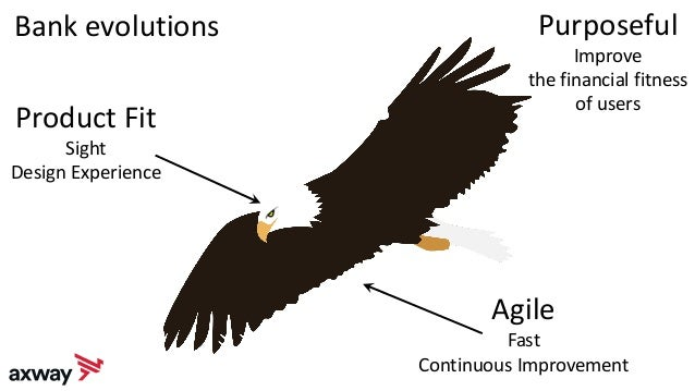 Bank evolutions Product Fit Sight Design Experience Agile Fast Continuous Improvement Purposeful Improve the financial fit...