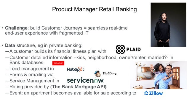 • Challenge: build Customer Journeys = seamless real-time end-user experience with fragmented IT • Data structure, eg in p...