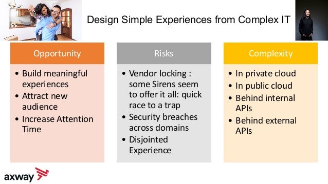 Design Simple Experiences from Complex IT Opportunity • Build meaningful experiences • Attract new audience • Increase Att...