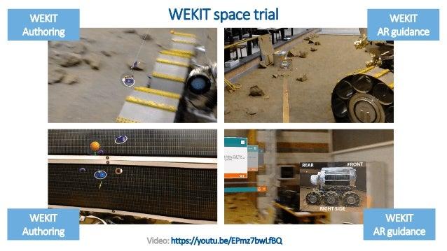 11 WEKIT Ghost track WEKIT Authoring WEKIT AR guidance Video: https://youtu.be/EPmz7bwLfBQ