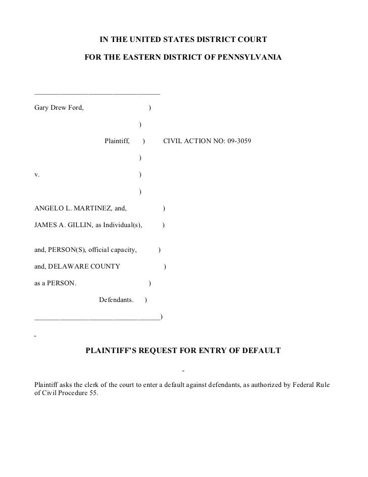 IN THE UNITED STATES DISTRICT COURT                    FOR THE EASTERN DISTRICT OF PENNSYLVANIA    _______________________...