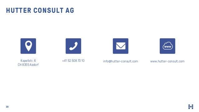 HUTTER CONSULT AG Kapellstr. 6 CH 8355 Aadorf +41 52 508 70 10 info@hutter-consult.com www.hutter-consult.com 30