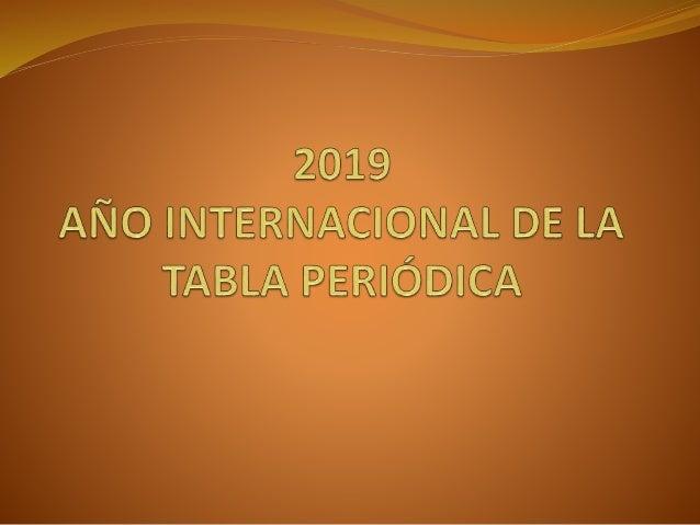 2019 ao internacional de la tabla periodica