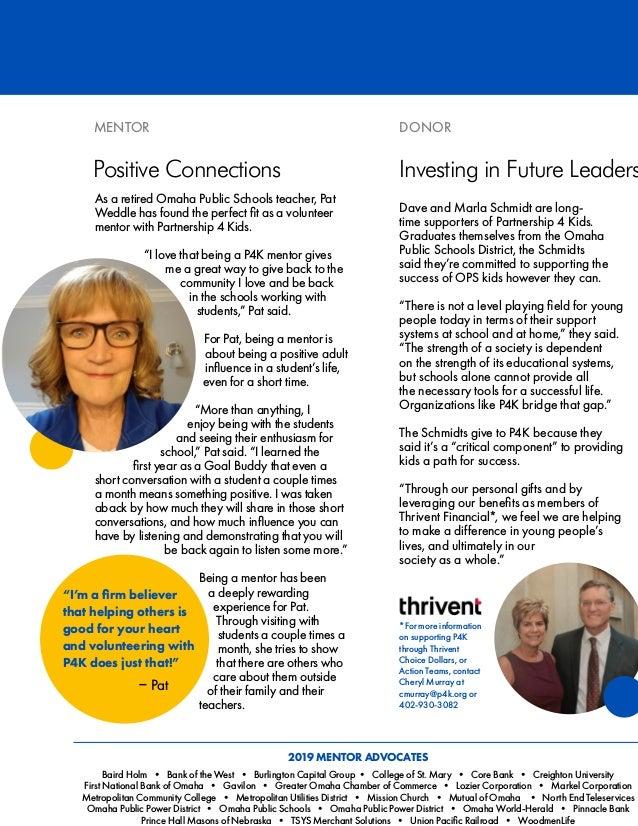 Partnership 4 Kids 2019 Annual Report Slide 2