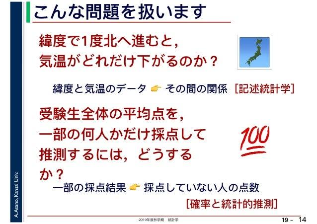 学期末�:*_2019年度秋学期統計学講義の進め方と試験について(2019.9.24)
