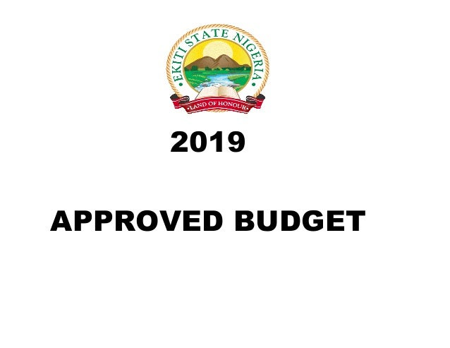 APPROVED BUDGET 2019