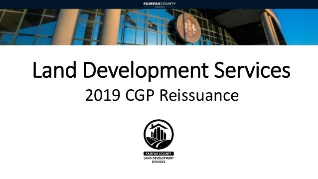 Land Development Services 2019 CGP Reissuance