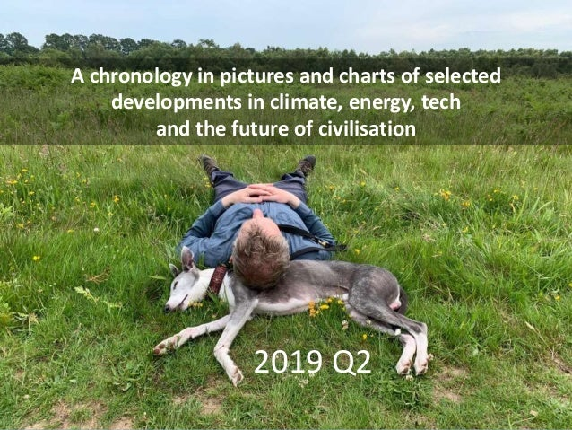 A chronology in pictures and charts of selected developments in climate, energy, tech and the future of civilisation 2019 ...