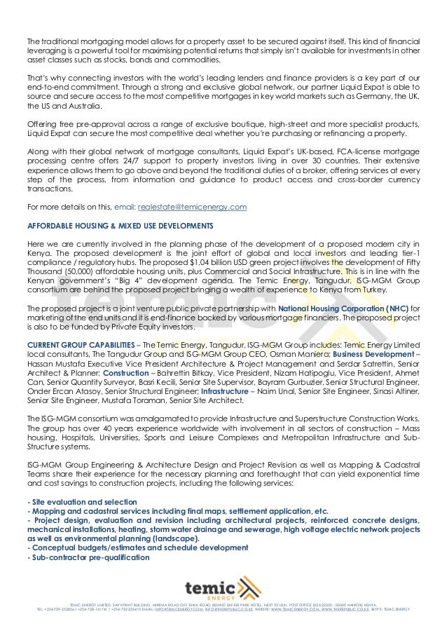 2019 corporate profile of temic energy limited