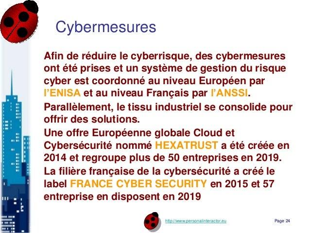 http://www.personalinteractor.eu Cybermesures Afin de réduire le cyberrisque, des cybermesures ont été prises et un systèm...