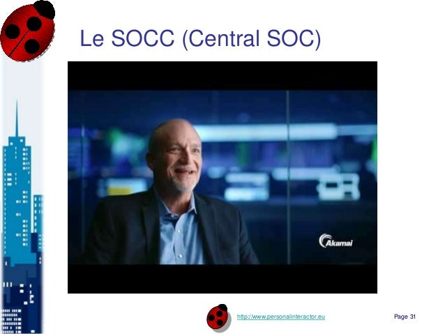 http://www.personalinteractor.eu Le SOCC (Central SOC) Page 31