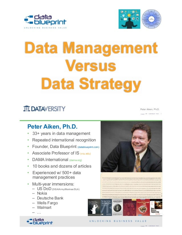 Peter Aiken, Ph.D. Data Management 