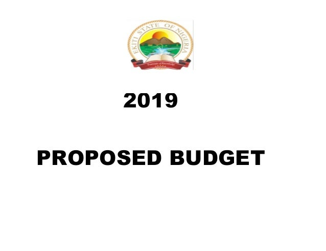 PROPOSED BUDGET 2019