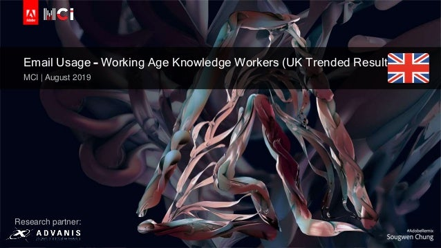 © 2019 Adobe Inc. All Rights Reserved. Adobe Confidential. Email Usage – Working Age Knowledge Workers (UK Trended Results...
