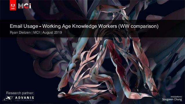 © 2019 Adobe Inc. All Rights Reserved. Adobe Confidential. Email Usage – Working Age Knowledge Workers (WW comparison) Rya...