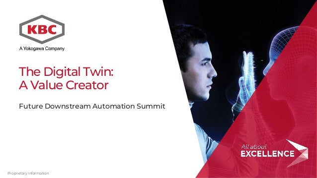 Proprietary Information The Digital Twin: A Value Creator Future Downstream Automation Summit