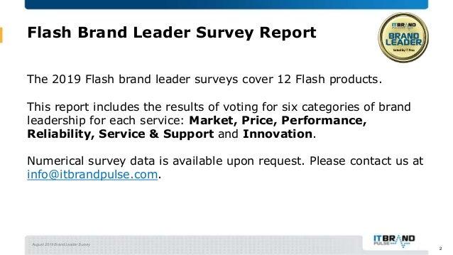 2019 Flash Brand Leader Report Slide 2