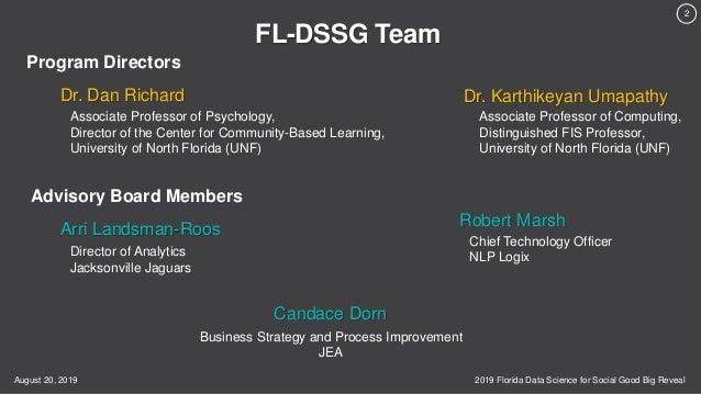 2019 Florida Data Science for Social Good (FL-DSSG) Big Reveal Slide 2