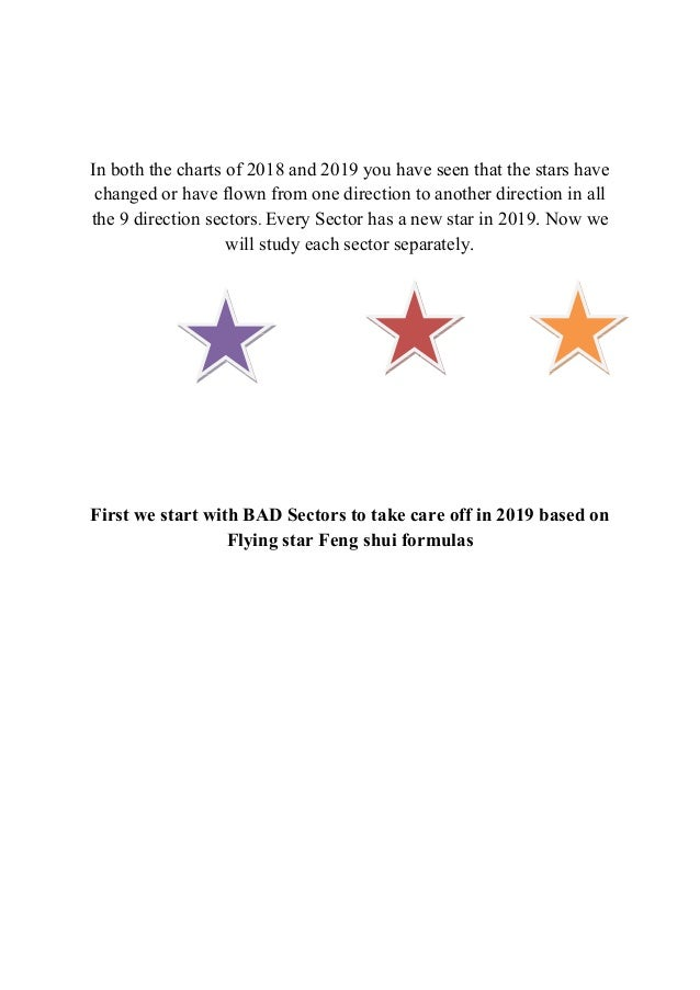 Guide to 2019 Annual flying star Feng shui