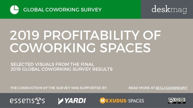 2019 PROFITABILITY OF COWORKING SPACES SELECTED VISUALS FROM THE FINAL 2019 GLOBAL COWORKING SURVEY RESULTS GLOBAL COWORKI...