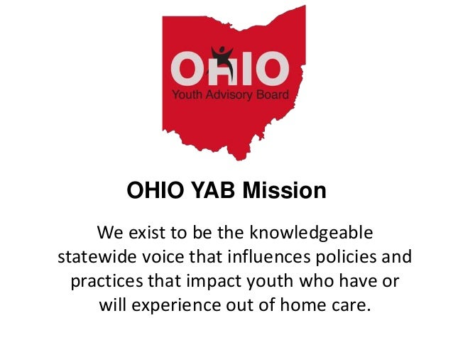 We exist to be the knowledgeable statewide voice that influences policies and practices that impact youth who have or will...