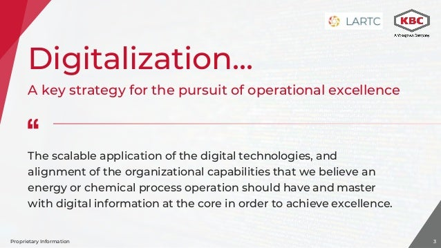 Digitalization assuring your plant achieves its full potential Larson Slide 3