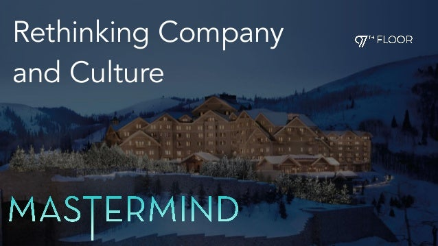 Rethinking Company and Culture