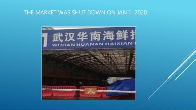 THE MARKET WAS SHUT DOWN ON JAN 1, 2020.