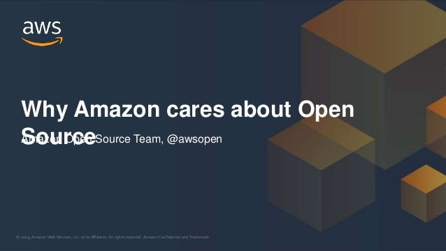 � 2019, Amazon Web Services, Inc. or its Affiliates. All rights reserved. Amazon Confidential and Trademark� 2019, Amazon ...