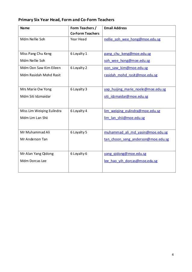FPS 2019 Information Booklet for Parents of P6 pupils