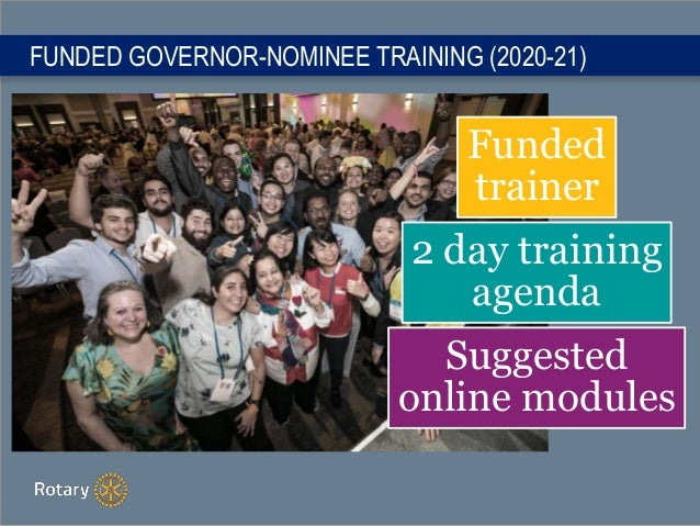 FUNDED GOVERNOR-NOMINEE TRAINING (2020-21) Funded trainer 2 day training agenda Suggested online modules