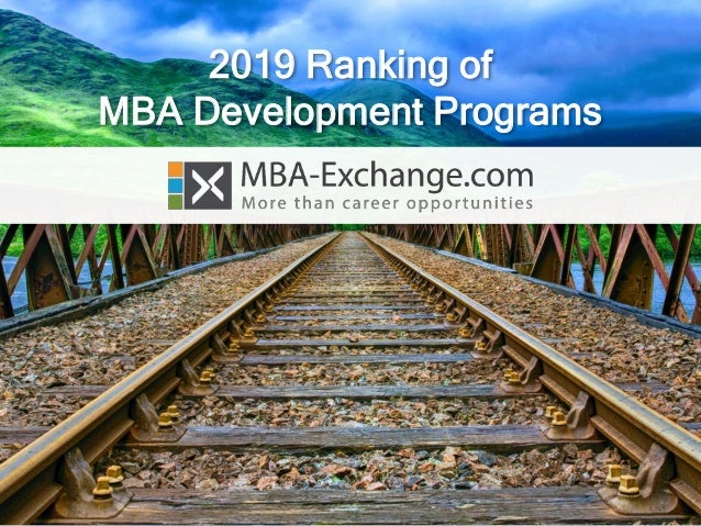 2019 Ranking of MBA Development Programs