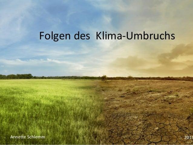 Folgen des Klima-Umbruchs 1Annette Schlemm 2019