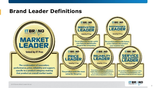 2019 Servers Brand Leader Survey Brand Leader Definitions 5