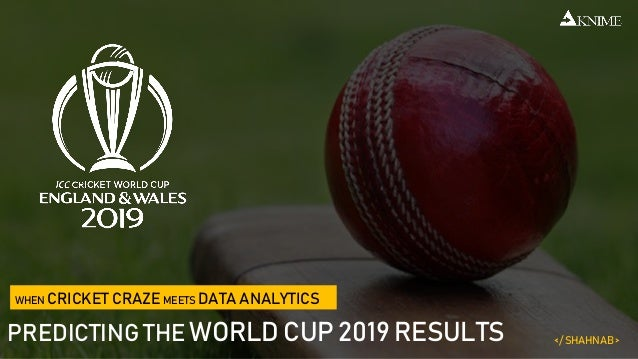2019 world cup predictions data analysis