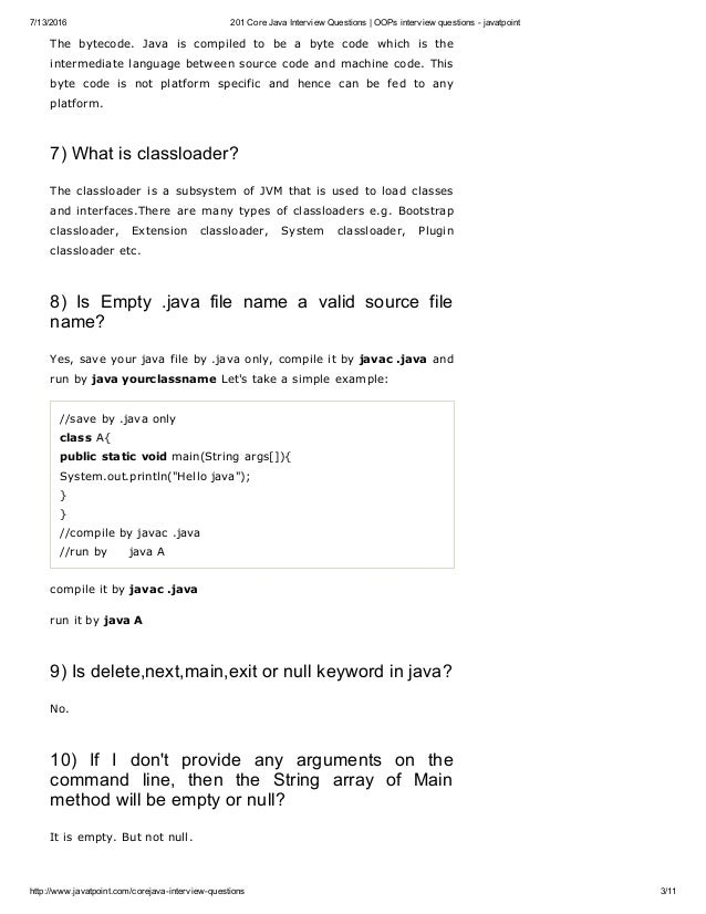 201 core java interview questions oo ps interview questions - javat…