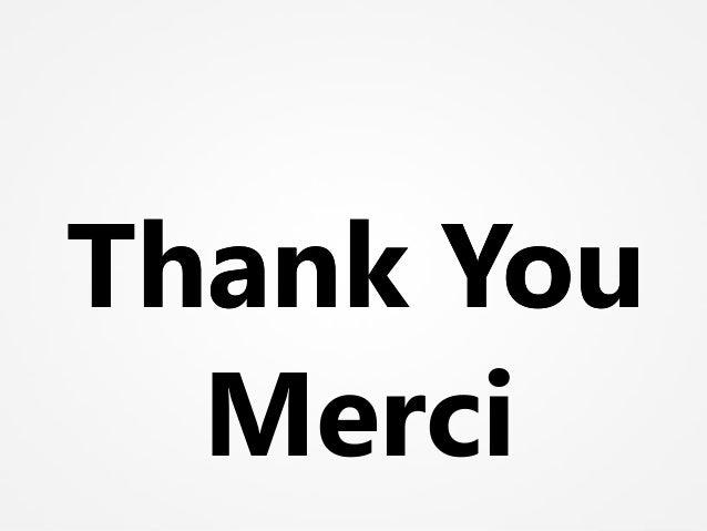 Thank YouThank You Merci