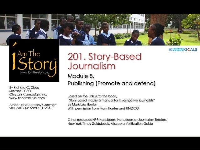 201 Journalism Module 8 Publishing