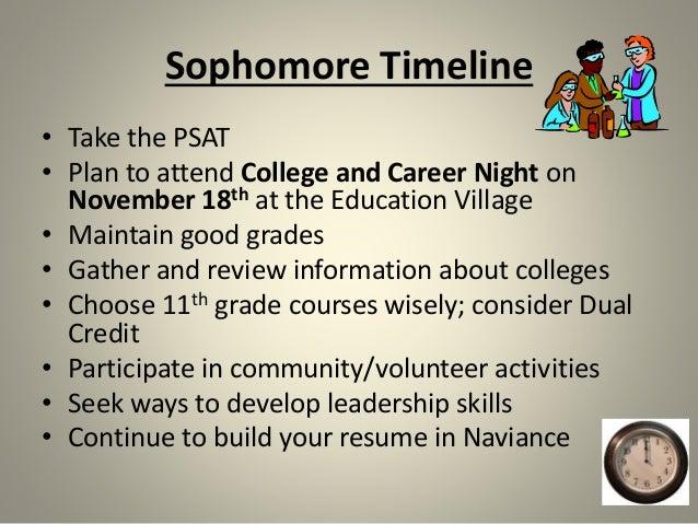 sophomore resume