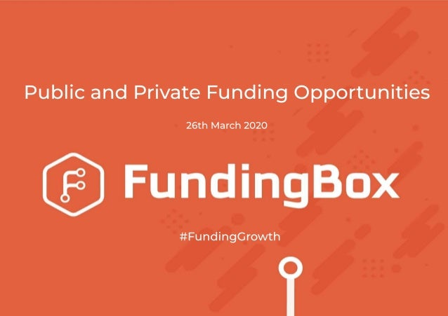 Introduction David Seoane Programme Manager at FundingBox with over 11 years of experience on Fundraising in EU programmes...
