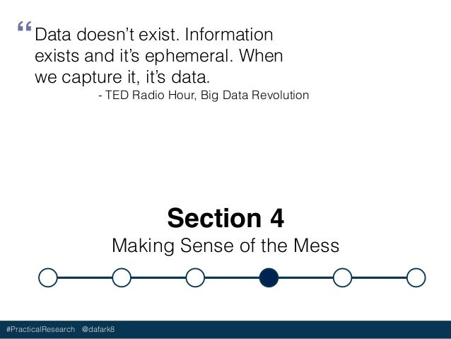 #PracticalResearch @dafark8 Analysis is the process of transforming raw data into actionable information and insights. Ana...