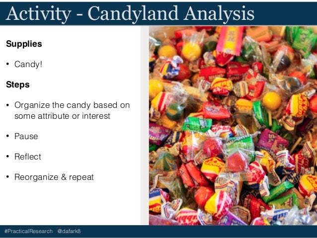 #PracticalResearch @dafark8 Activity - Candyland Analysis Supplies • Candy! • Paper Steps • Draw 5-6 horizontal lines on t...