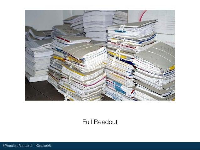 #PracticalResearch @dafark8 Product Roadmap