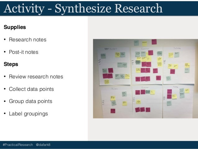 #PracticalResearch @dafark8 Discuss - Synthesize Research • How can you look at the data points through different points o...