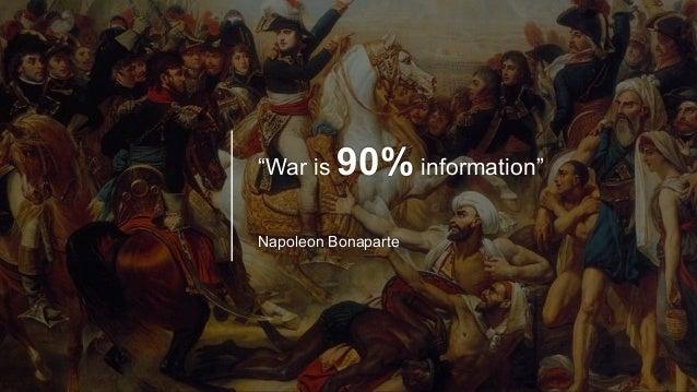 """""""War is 90% information"""" Napoleon Bonaparte"""
