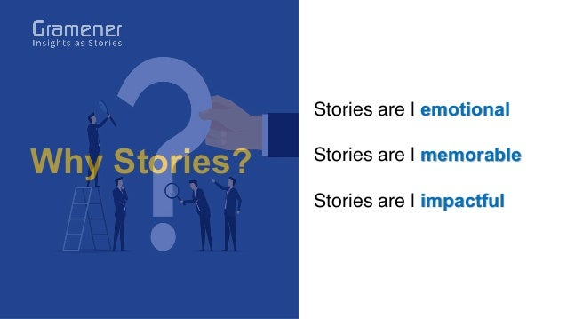 Why Stories? Stories are   emotional Stories are   memorable Stories are   impactful