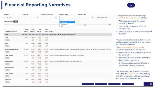 25 Financial Reporting Narratives LINK Financial ServicesNarrativesFinancePlatform A key problem in financial reporting is...